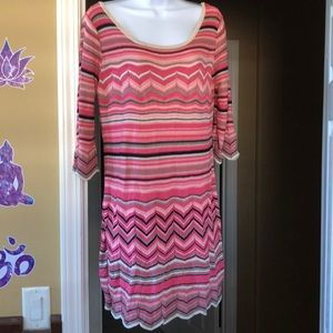 Candies Pink Knit Dress XL